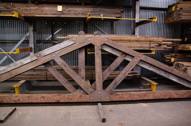 Custom Made Trusses The Salvage Yard